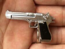 1/6 Plastic Sliver Desert Eagle Gun Model Mini Pistol Toy Gift Figure