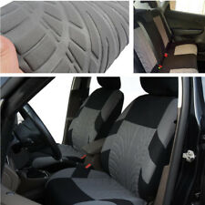 Full Set Black + Gray Auto Seat Cover Cushion Protector for 5-Seat Car Washable