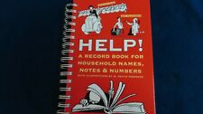 Help! A Record Book for Household Names , Notes and Numbers