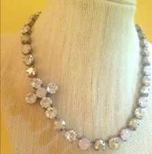 Swarovski Crystal Elements Pink Opal White Cross Cup Chain Necklace Jewelry New
