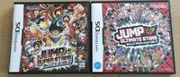 Nintendo DS Jump Super Stars & Ultimate Stars 2 game set Japan NDS