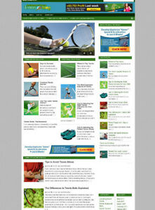 TENNIS STORE & BLOG WEBSITE WITH AFFILIATES WITH NEW FREE DOMAIN & HOSTING