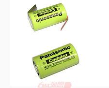 2x Panasonic Ni-Cd Sub C N-1900SCR 1.2V 1900mAh Battery W/tabs 2.9A charge US