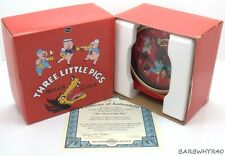 Disney Big Bad Wolf Three Little Pigs Ingersoll L.E. Replica Alarm Clock in Box