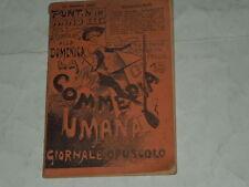 GIORNALE OPUSCOLO SETTIMANALE-PUNT N.148 LA COMMEDIA ITALIANA 16 OTTOBRE 1887