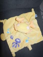 doudou plat crabe jaune anneau dentition attache tétine MOTS D'ENFANTS 2 dispo