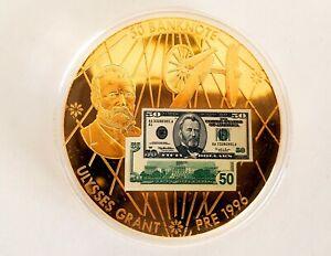Ulysses Grant $50 Bank Note - 2oz