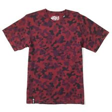 LRG RC Crewneck Knit Tee in Maroon Panda Camo Medium M Lifted Research Group