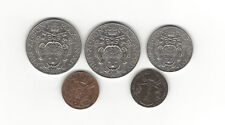 New listing 19. Vatican World Coin: 5 Ct 1940, 1935/ 2L 1935 1935/ 50 Ct 1937 High Grade