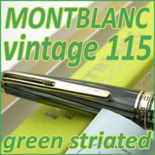 1958-59 MONTBLANC MEISTERSTUCK 115 BALL POINT BP GREEN STRIATED CELLULOID PEN!