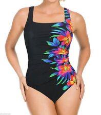 NWT Women's  Blk MIRACLESUIT Sideswipe SWIMSUIT by Kirkland Bathing Suit Size 16