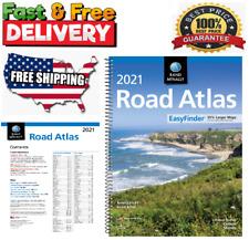 USA Road Atlas EasyFinder Spiral Bound United States Travel Map Midsize 2021 NEW