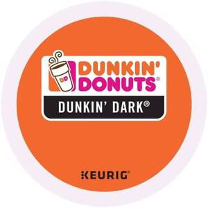 Dunkin' Donuts Dark Roast Coffee 24 to 144 Keurig K cup Pick Any Size FREE SHIP