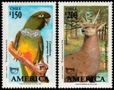 ✔️ CHILE 1993 - UPAEP FAUNA BIRDS DEER - MI. 1575/1576 ** MNH OG [101.014]