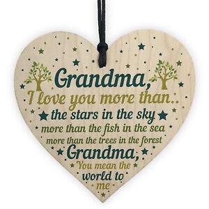 Grandma Gifts For Birthday Christmas Grandma Gifts From Grandchildren Wood Heart