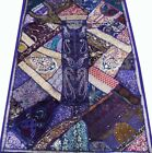 """33% OFF 60"""" PURPLE  VINTAGE HANDICRAFTED EMBROIDERED ZARI WALL HANGING TAPESTRY"""
