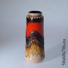 Vase Scheurich 206-26 H = 26,4 cm années 60er/60 S-WGP-Fat Lava #957