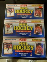 3 Complete Sealed Sets Of 1990 Score Hockey Cards 5 Exclusives ERIC LINDROS
