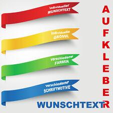 Beschriftung Wunschtext Aufkleber Sticker Zahl selbst gestalten erstellen #1