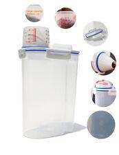 3L Plastic Large Cereal Dispenser Storage Box Kitchen Food Grain Rice Container