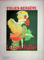 """Jules Cheret: Folies Bergères """"Fuller"""" - Litografía Original, Firmada 1897"""