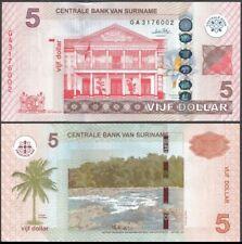 Suriname 5 Dollars 2010. P-162. NEUF-UNC