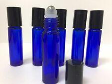 100 Stainless Steel Metal Roller Ball  Cobalt Glass Bottles 10ml Blue New Bottle