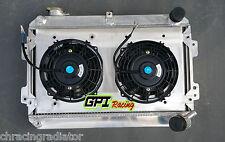 Aluminum radiator + shroud + fans for Mazda RX7 SA/FB S1 S2 S3 12A/13B 1979-1985