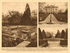 Richmond Park. White Lodge, Royal residence since George I 1926 old print