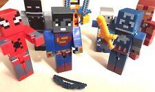 Minecraft Superhero Marvel DC figures Batman Spider-Man Avengers Infinity War