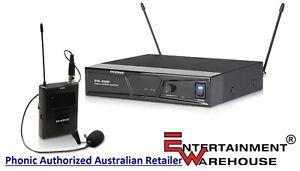 Phonic PR800L6  Single Channel Diversity Lavalier Wireless Microphone System.