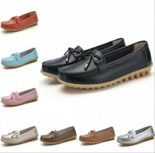 Women Loafer Moccasin 16 Color Casual Nurse Flat Comfort Round Toe Shoes Slip On