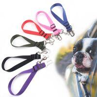 Adjustable Pet Dog Travel SEAT BELT Car Safety Harnesses Lead Restraint Strap UK