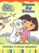 Dora the Explorer: Rhymes and Riddles (DVD) DISC & ARTWORK ONLY NO CASE