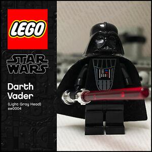 GENUINE LEGO Star Wars Minifigure Darth Vader (Light Grey Head) sw0004 10123