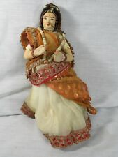 Antique Or Vintage India Real Hair Hand Made Clothes Beadwork Traditional Doll