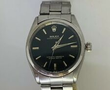 Vintage Rolex 1002 Stainless Steel Black Gilt Dial Fully Serviced Automatic 1963