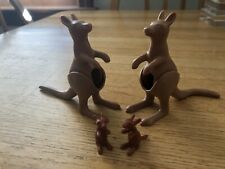Playmobil 2 Kangaroos With Joeys And Different Tails! VHTF! Ark Zoo Wild Animals