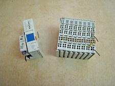 Wago 750-343 Profibus Fieldbus Coupler Module w/ 750-960 (7) 750-430 (1) 750-600