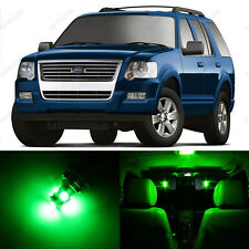 13 x Green LED Interior Light Package For 2002 - 2010 Ford Explorer + PRY TOOL