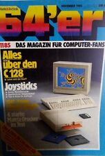 64er (64´er) 11/85 November 1985 C64 Commodore (C128, Joysticks, 1541)