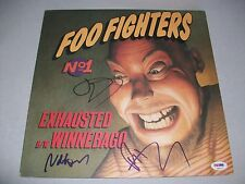 "FOO FIGHTERS signed ""EXHAUSTED"" 12 INCH RECORD PSA/DNA LOA! DAVE GROHL! RARE!"