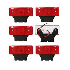 Led Side Marker Position Red Light 12v Lamp Truck Trailer Lorry Set Of 6