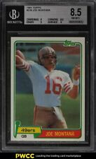 1981 Topps Football Joe Montana ROOKIE RC #216 BGS 8.5 NM-MT+