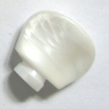 Banjo Tuner Button-pearloid, shaft 2 curved 2 flat