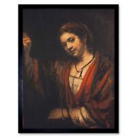 Rembrandt Portrait Of Hendrickje Stoffels Art Print Framed 12x16