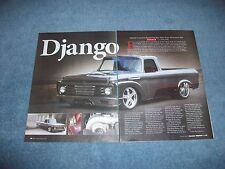 "1962 Ford F-100 Unibody Shortbed Custom Article ""Django"" Cummins Twin-Turbo"