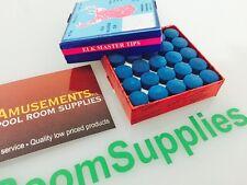 BOX of 50 Tweeten Elk Master Pool Snooker Billiard Tips Glue on type (10mm)