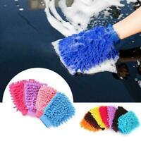 Super Mitt Microfiber Car Window Washing Cleaning Cloth-Duster-Towel-Gloves J5S6