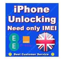 iPhone 5 5S 5C SE 6 Permanent Factory Unlocking Service For UK EE Orange Tmobile